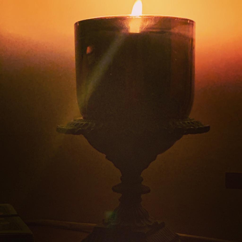 Large  black candle